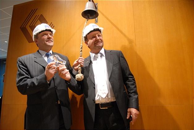 Józef Wojciechowski, założyciel J.W. Construction i Jerzy Zdrzałka, Prezes Zarządu